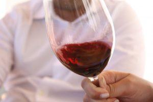 Glass of wine in miami