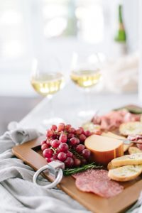 Wine, fruit and cheese delight!