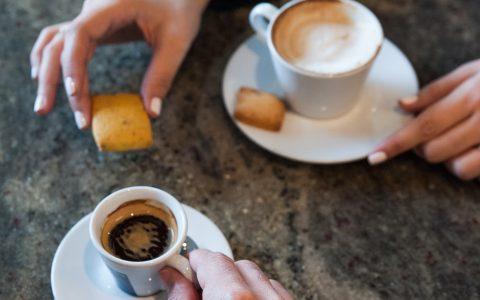 Espresso and cappucino couple